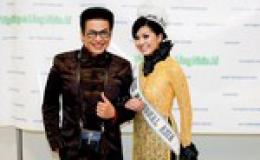 Hoa hậu Châu Á tại Mỹ về nước làm từ thiện