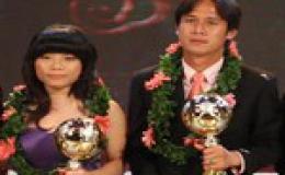 Minh Phương và Kim Hồng giành danh hiệu Quả bóng vàng Việt Nam