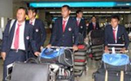 U23 Việt Nam đã tới Indonesia sau chuyến bay dài