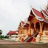 Sắc vàng ở Pha That Luang .