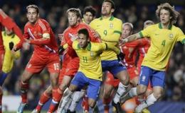 Brazil may mắn cầm hòa Nga