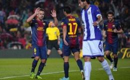 Barca giành chiến thắng trong ngày nhận cúp