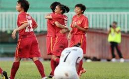 Tuyển nữ Việt Nam dội 'bão gôn' vào lưới Kyrgyzstan