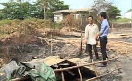 """""""Vụ cháy xảy ra tại một khu nhà ở huyện Tân Phước"""""""
