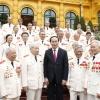 Chủ tịch nước Trần Đại Quang gặp mặt Ban liên lạc cán bộ công an chi viện chiến trường miền nam