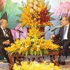 Bí thư Thành ủy TP. Hồ Chí Minh Nguyễn Thiện Nhân tiếp Chủ tịch Thượng viện Myanmar