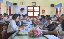 Ban Văn hoá Xã hội – HĐND tỉnh làm việc với huyện Gò công Đông