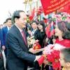 Chủ tịch nước Trần Đại Quang bắt đầu chuyến thăm chính thức Liên bang Nga