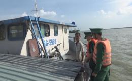 BĐBP Tiền Giang phát hiện và tạm giữ phương tiện vận chuyển hàng hóa không có chứng từ, hóa đơn