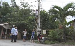 Xã Tân Thuận Bình, huyện Chợ Gạo lắp đặt camera an ninh