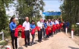 Kiểm toán Nhà nước Khu vực IX khánh thành cầu giao thông nông thôn