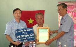 MTTQ trao nhà đại đoàn kết tại Tx. Cai Lậy, huyện Cai Lậy và Tân Phước