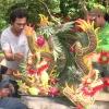 Biểu diễn cắm hoa, trà đạo và thư pháp Nhật Bản mở màn cho Lễ hội Làng cổ Đông Hòa Hiệp