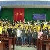 Sinh viên Hàn Quốc thực hiện chương trình tình nguyện tại Thị xã Cai Lậy