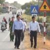 Chủ tịch UBND thị xã Gò Công khảo sát các vị trí có nguy cơ xảy ra tai nạn giao thông