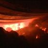 Cháy lớn tại khu công nghiệp Long Giang – Tân Phước