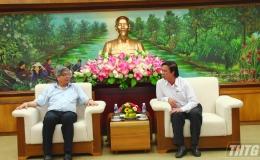 Bí thư tỉnh ủy Tiền Giang tiếp Chủ tịch Liên hiệp các Hội KHKT Việt Nam