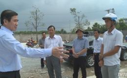 Chủ tịch UBND tỉnh Tiền Giang kiểm tra thực tế các công trình xây dựng