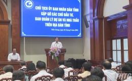 Lãnh đạo UBND tỉnh Tiền Giang gặp gỡ các đơn vị lĩnh vực xây dựng