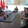 Thượng tướng Nguyễn Trọng Nghĩa thăm và làm việc với Ban chỉ huy quân sự huyện Chợ Gạo
