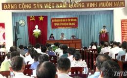 ĐBQH đơn vị tỉnh Tiền Giang tiếp xúc cử tri trước kỳ họp lần thứ 6 Quốc hội khóa XIV.