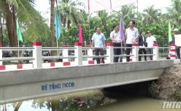 Khánh thành cầu giao thông nông thôn xã Bình Ninh