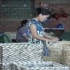 Đan lát lục bình – Nguồn tăng thu nhập cho phụ nữ nông thôn trong mùa lũ