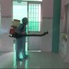 Tân Phước khử trùng ổ dịch tay chân miệng tại trường mầm non xã Thạnh Mỹ