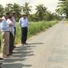 Chủ tịch UBND tỉnh khảo sát công trình đầu tư công tại huyện Chợ Gạo