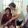 Thăm và tặng quà cho tướng Nguyễn Hữu Hạnh