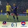 """U22 Campuchia bất ngờ hạ Malaysia, đứng đầu bảng """"tử thần"""""""
