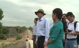 Chủ tịch UBND tỉnh Tiền Giang khảo sát tình hình nước sinh hoạt