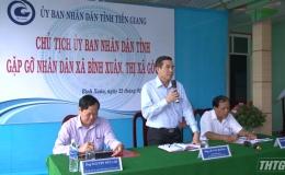 Lãnh đạo UBND tỉnh Tiền Giang gặp gỡ nhân dân về chỉ số PAPI