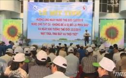 Tiền Giang mittinh hưởng ứng Ngày Nước thế giới và Ngày Khí tượng thế giới