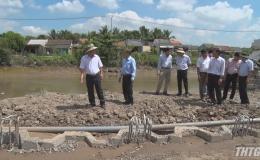 Phó Chủ tịch UBND tỉnh Tiền Giang kiểm tra tiến độ thực hiện các công trình trên địa bàn huyện Chợ Gạo