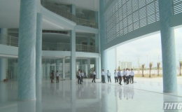Lãnh đạo UBND tỉnh Tiền Giang kiểm tra công trình Nhà Thiếu nhi và Bệnh viện Đa khoa Tiền Giang