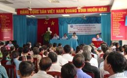 Ông Phạm Anh Tuấn gặp gỡ nhân dân xã Phước Trung huyện Gò Công Đông