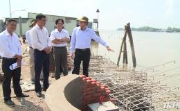 Chủ tịch UBND tỉnh Tiền Giang kiểm tra tiến độ thực hiện các dự án, công trình trên địa bàn Tp. Mỹ Tho