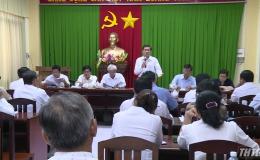 Chủ tịch UBND tỉnh Tiền Giang kiểm tra công tác phòng, chống dịch tả heo Châu Phi tại huyện Châu Thành