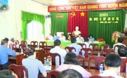 Chủ tịch HĐND tỉnh Tiền Giang tiếp xúc cử tri