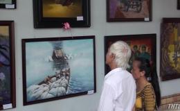 """Tác phẩm """"Quê mẹ"""" đạt giải nhất Cuộc thi Mỹ thuật tỉnh Tiền Giang 2019"""