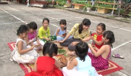 Gương cô giáo yêu nghề mến trẻ của trường Mầm non Sao Sáng