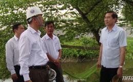 Chủ tịch UBND tỉnh kiểm tra tại khu công nghiệp Tân Hương
