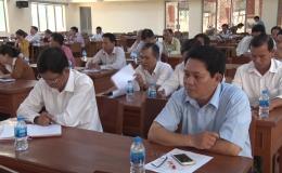 Lãnh đạo huyện Chợ Gạo đối thoại với các doanh nghiệp và hộ kinh doanh