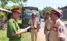 CSGT Tiền Giang tăng cường kiểm soát các phương tiện