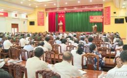 Tỉnh ủy Tiền Giang tổ chức quán triệt Chỉ thị số 35 của Bộ Chính trị về công tác chuẩn bị Đại hội Đảng các cấp