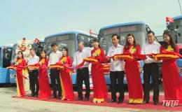 Khai trương tuyến buýt chất lượng cao đầu tiên tại Tiền Giang