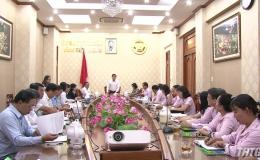 UBND tỉnh làm việc với Ngân hàng Chính sách Xã hội – Chi nhánh Tiền Giang