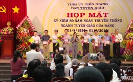 Tiền Giang họp mặt kỷ niệm ngày truyền thống ngành Tuyên giáo