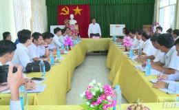 Chủ tịch UBND tỉnh Tiền Giang kiểm tra tiến độ xây dựng nông thôn mới